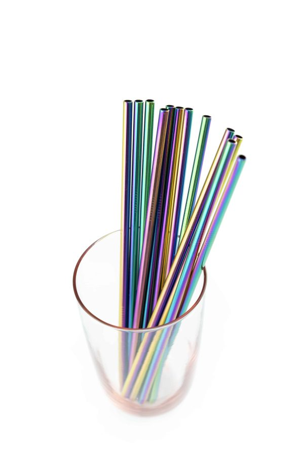 rainbow straws reusable ideal for nightclubs and bars