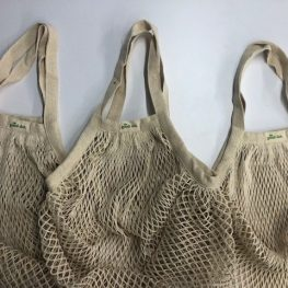 recycled cotton string bags
