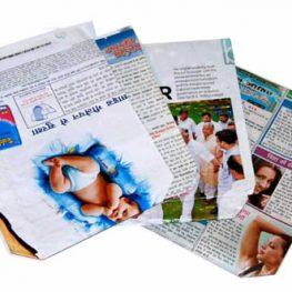 Newspaper folding bags