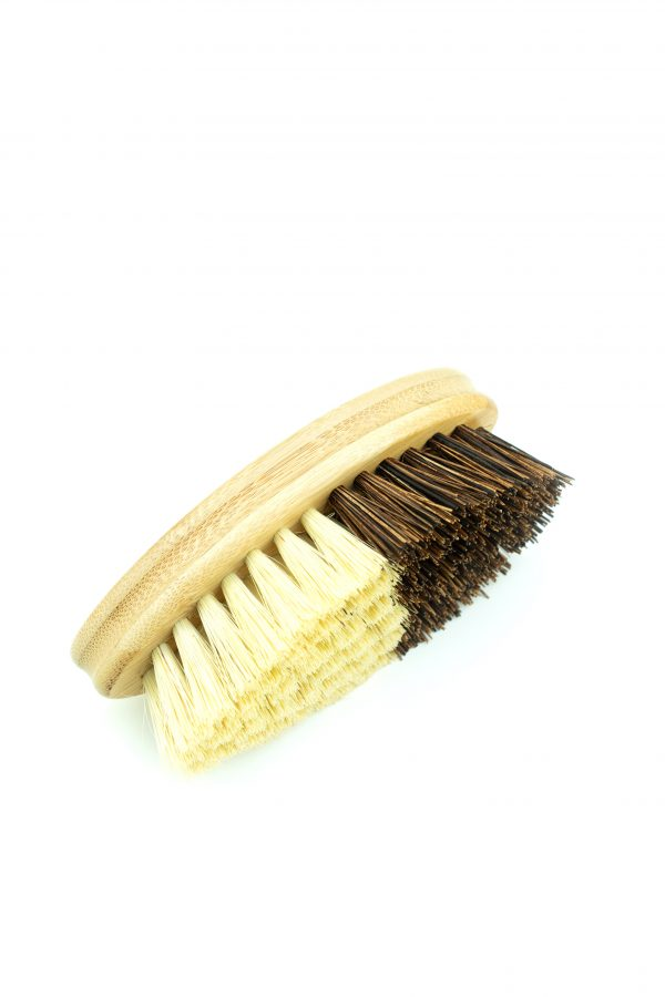 vegetable brush sisal and coconut on bamboo