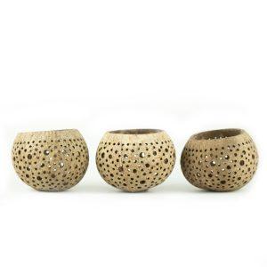 coconut bowl tea lights