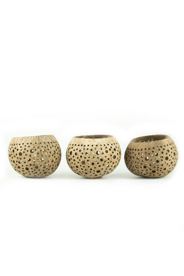 coconut bowl tea lights